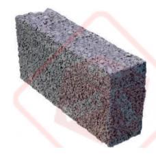 Керамзитоблок перегородочный полнотелый М35